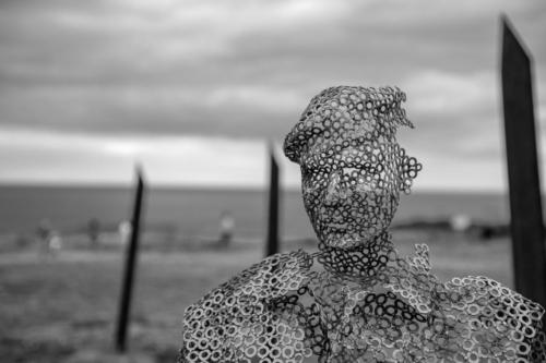 75th anniversary sculpture @Arromanches-les-Bains